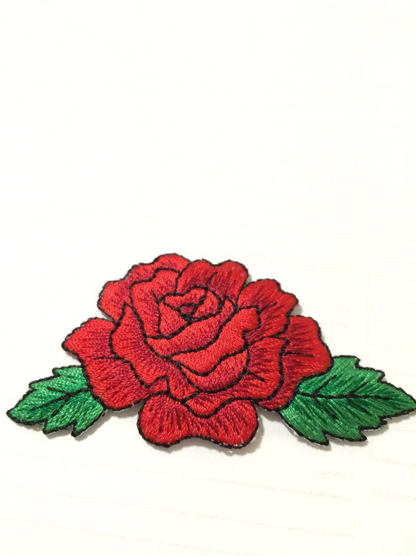 Rose Rosen Aufnäher Patch Roses x