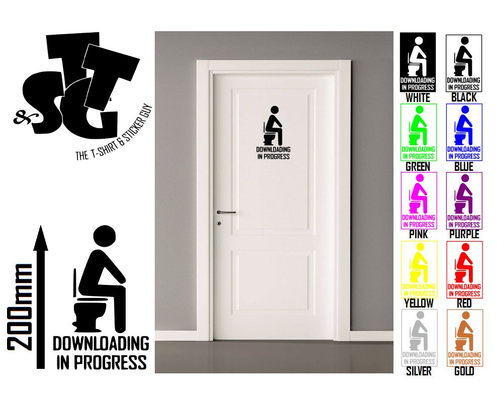 Funny TOILET DOOR STICK MAN//WOMEN wall stickers vinyl Decals Decoration sign art