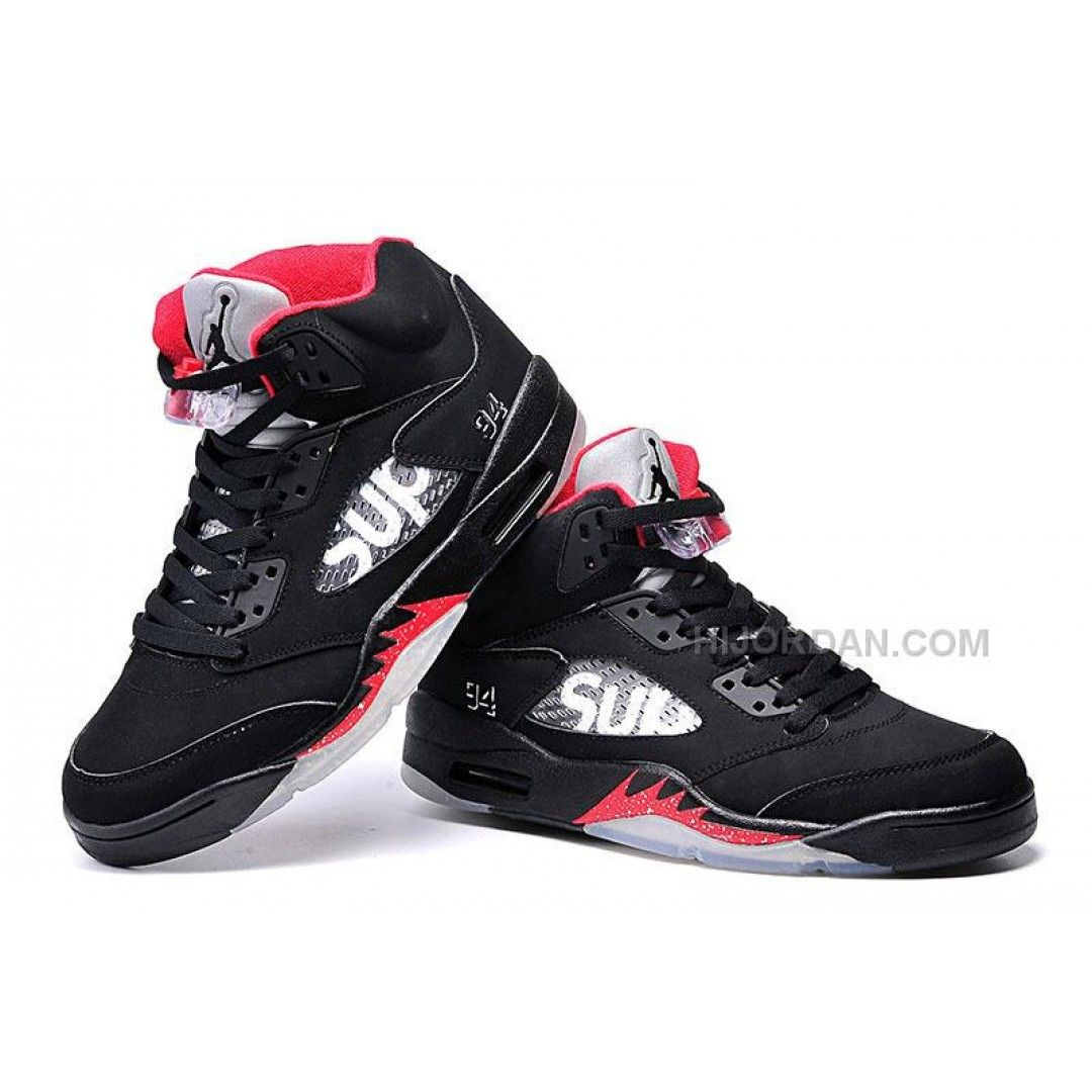 Kids Jordan Shoes Supreme x Air Jordan 5 Bred For Sale