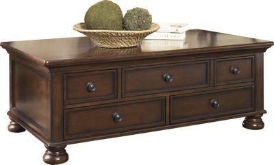 Ashley Porter Coffee Table Homemakers Furniture In 2020 Furniture Home Kitchens Coffee Table With Storage