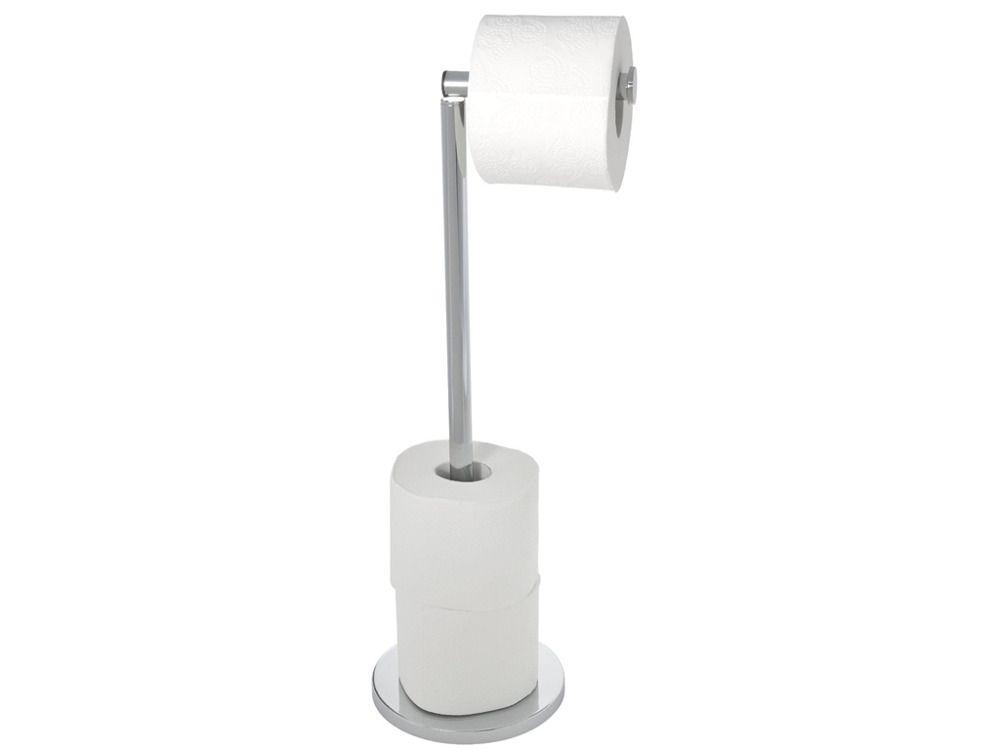 Wenko Stand Toilettenpapierhalter 2 In 1   Edelstahl Rostfrei, Glänzend |  ŁAZIENKA Akcesoria łazienkowe Stojaki