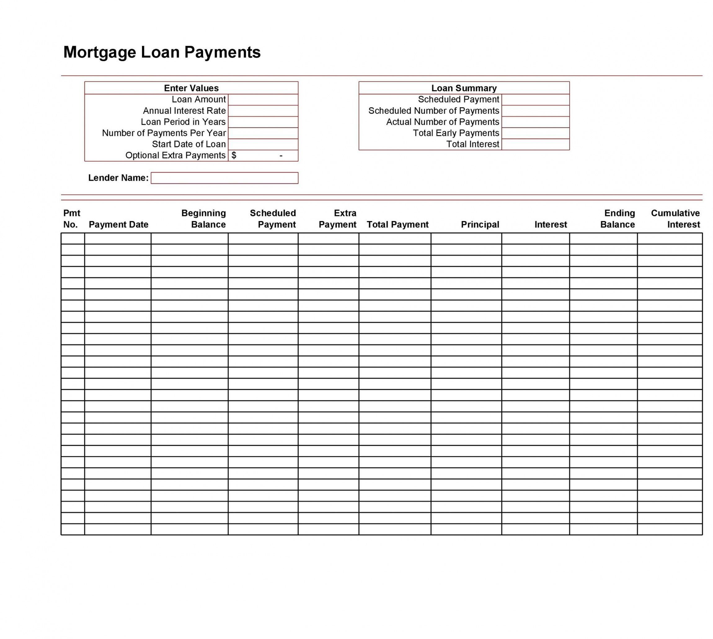 Explore Our Example Of Personal Loan Payment Schedule Template Personal Loans Payment Schedule Schedule Template