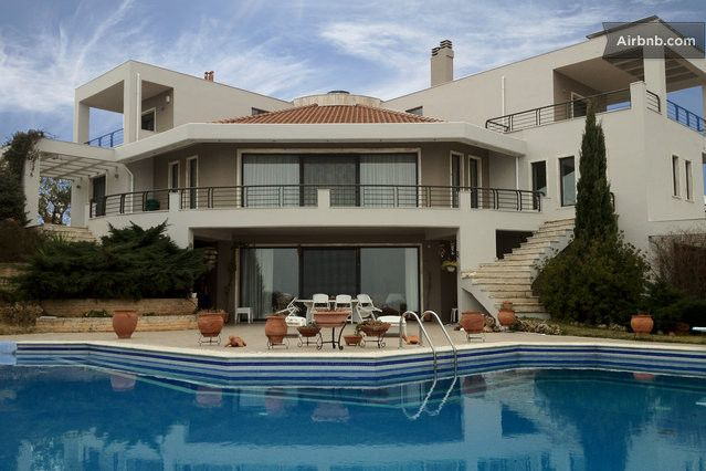 big mansions mansion with pool and big sauna in thessaloniki