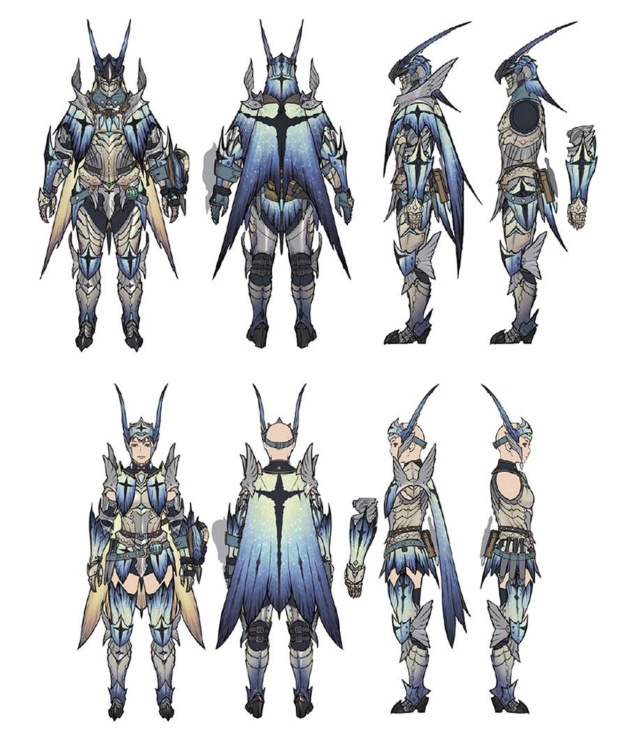 Legiana Armor Artwork From Monster Hunter World Art Artwork