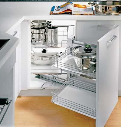 Maximize Your Kitchen Storage Myhomeideas Com Corner Storage Cabinet Kitchen Storage Kitchen Corner