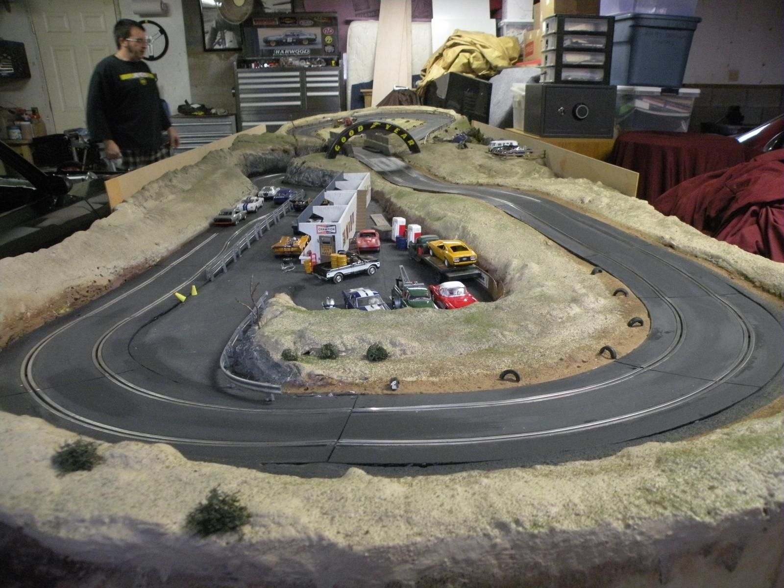 Carrera slot car track vintage scene cars