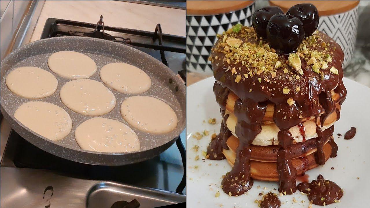 ميني بان كيك رائع جدا بطريقة سهلة و سريعة و البنة حجا روووعة Food Breakfast Pancakes