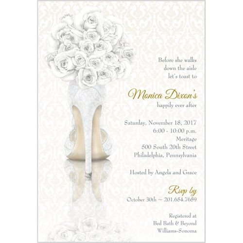 shoe bouquet bridal shower invitation storkiecom