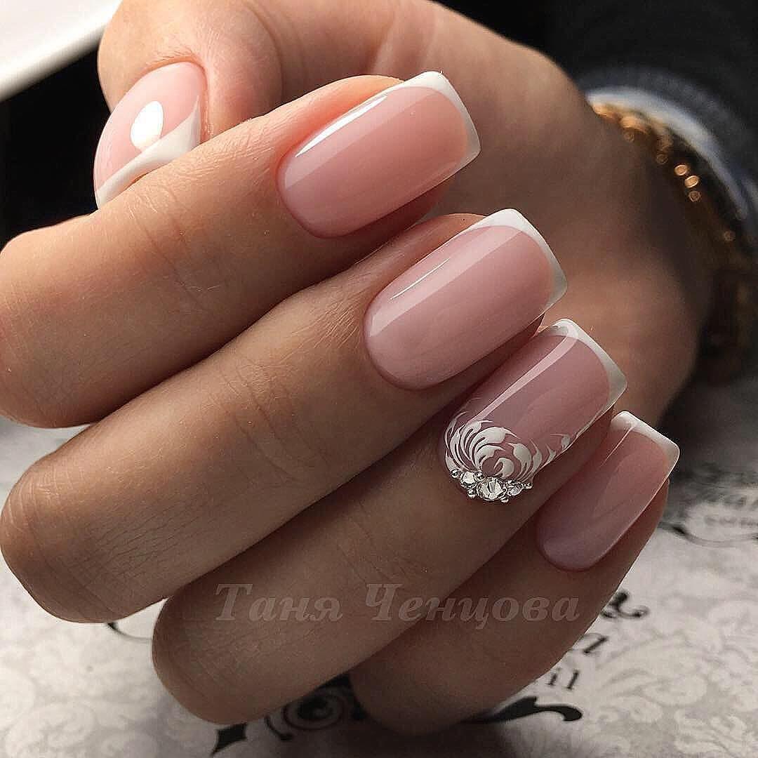 110 Nail Art Designs And Ideas 2020 Bridal Nails French Bridal