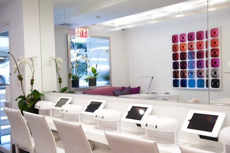 Essie opens first flagship salon nail salon design
