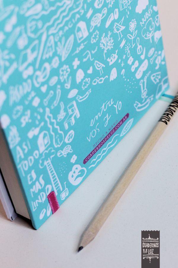 https://flic.kr/p/BcTTd3 | Untitled | Entre vos y yo Cuaderno hecho a mano. 15x21cm. 100 hojas lisas, papel bookcel 80gr. Elástico de cierre. Bolsillo portapapeles.  www.cuadernosdeluz.com.ar