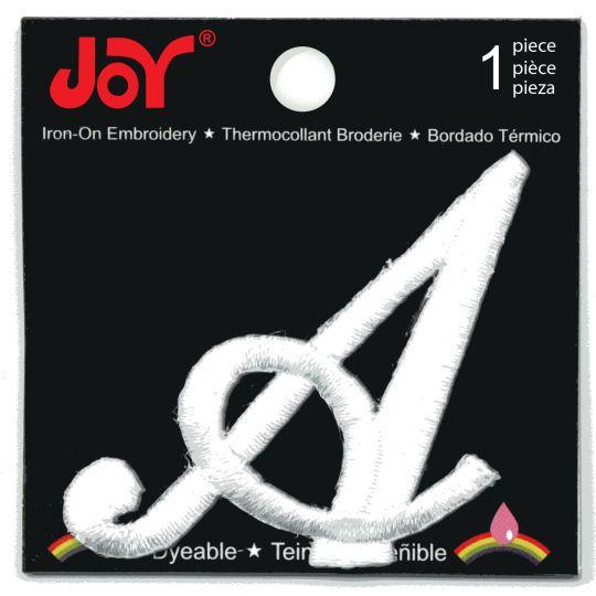 Joy® Monogram Large White Iron-On Embroidery LetterJoy Monogram Large White  Iron-On