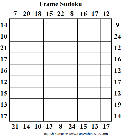 Frame Sudoku (Daily Sudoku League #129)   Sudoku Puzzles