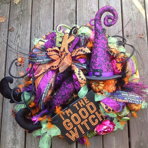 THE GOOD WITCH Halloween wreath, Competition Winner- witch wreath ...
