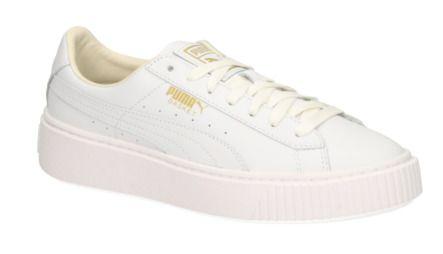 Puma BASKET PLATFORM CORE witte Platform sneakers