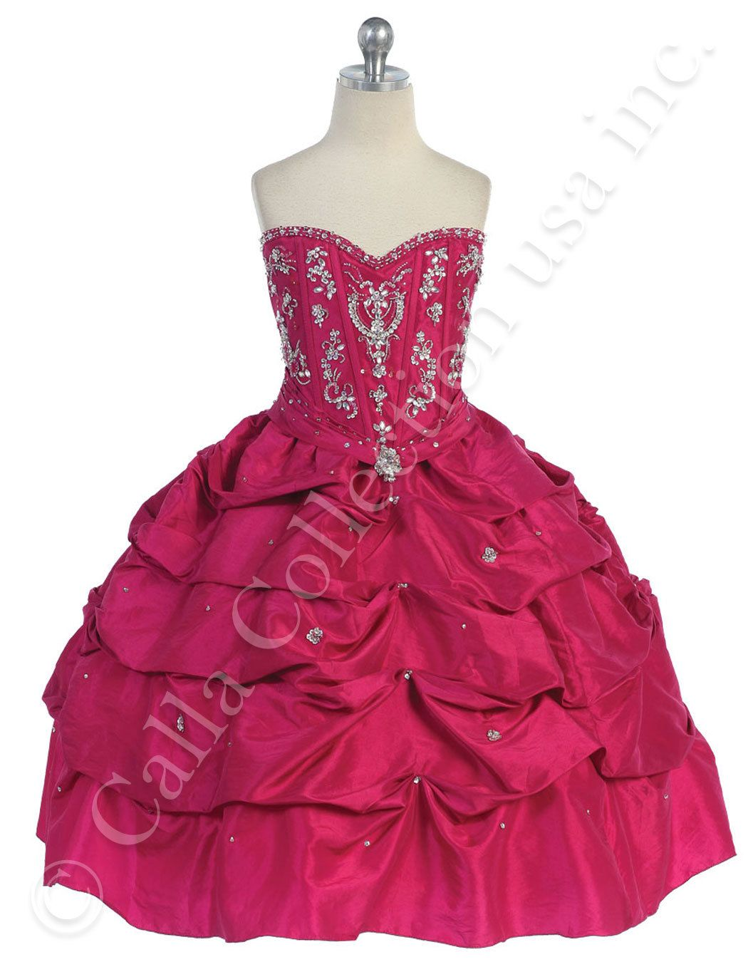 Preteen pageant gowns fuchsia prom and beauty pageant dresses for