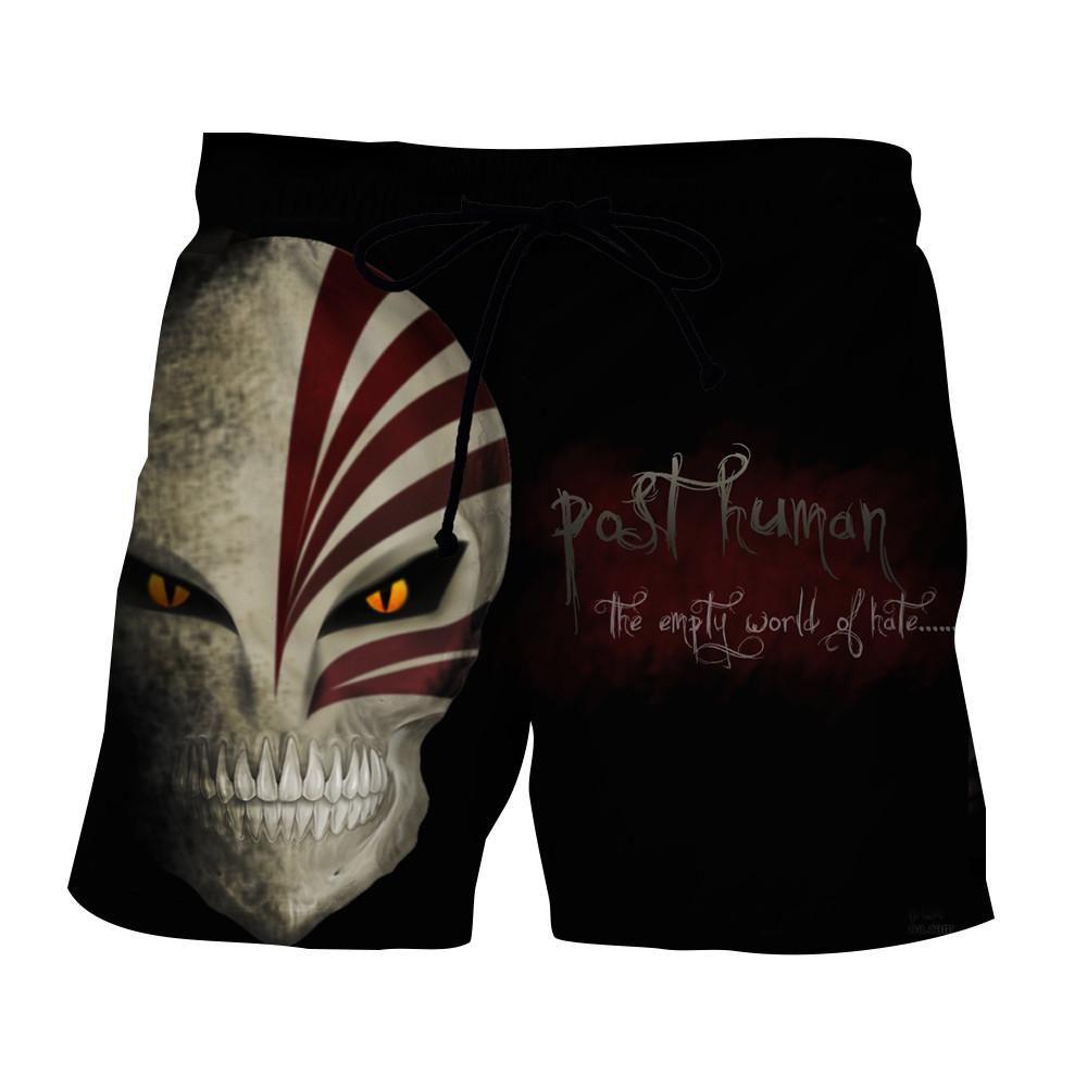 Bleach ichigo full face hollow mask skull symbol shorts