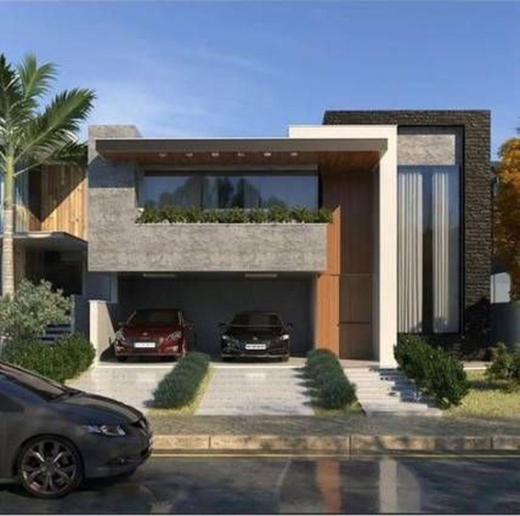 35 Inspiring Modern House Architecture Design Ideas Facade House House Architecture Design Architecture