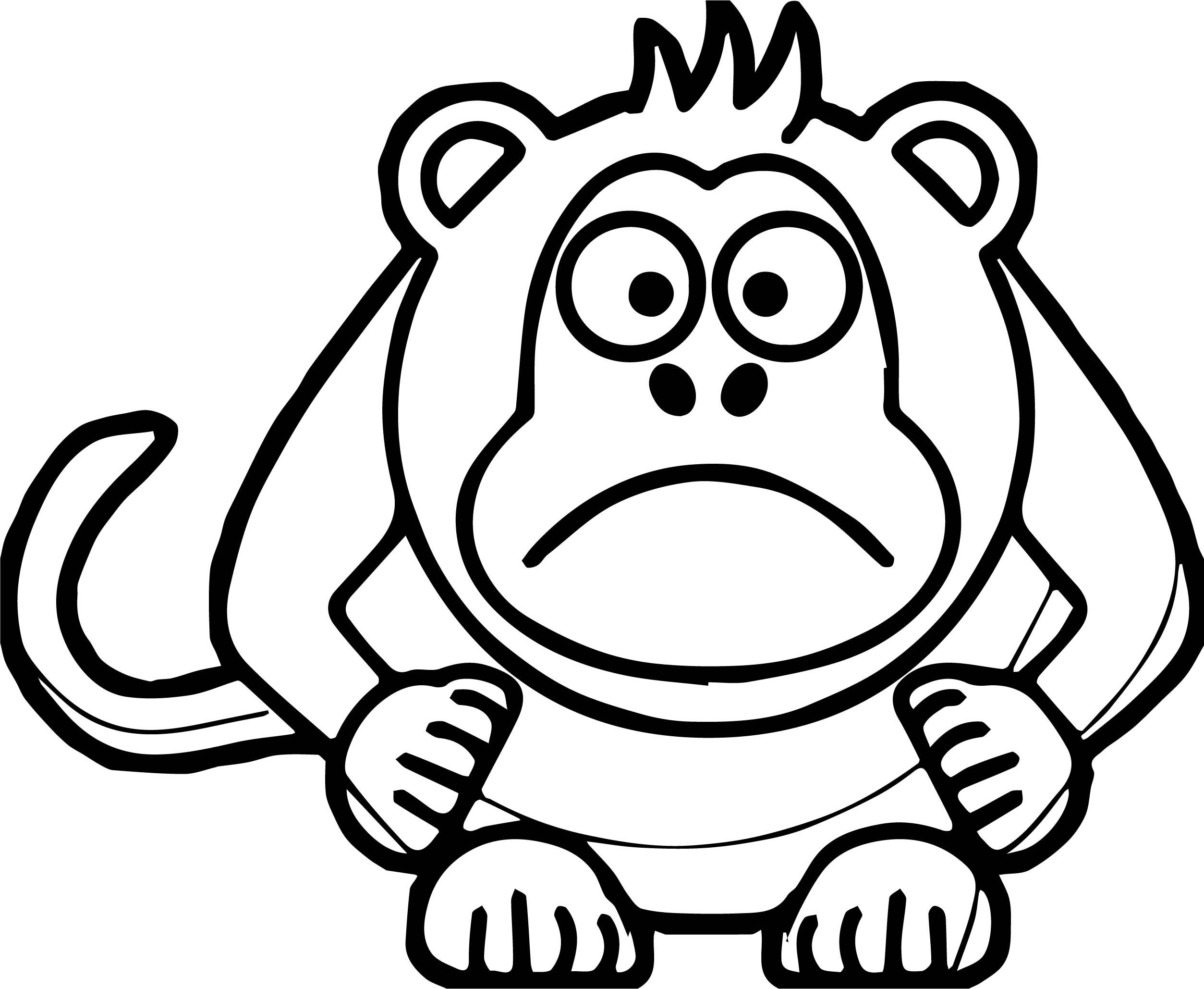 Nice Angry Cartoon Baboon Coloring Page Monkey Coloring Pages