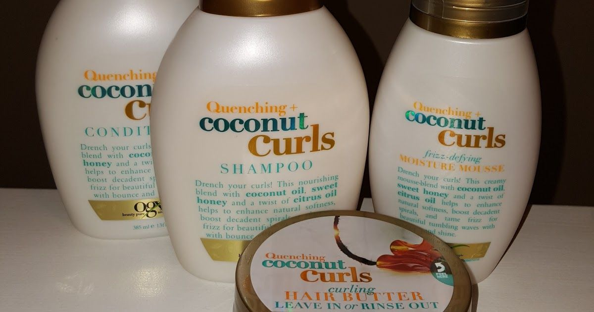 Review Ogx Beauty Quenching Coconut Curls Curly Hair Care