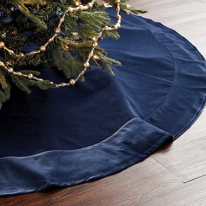 Signature Velvet 60 Inch Christmas Tree Skirt Christmas Tree Skirt Blue Christmas Tree Blue Christmas Decor