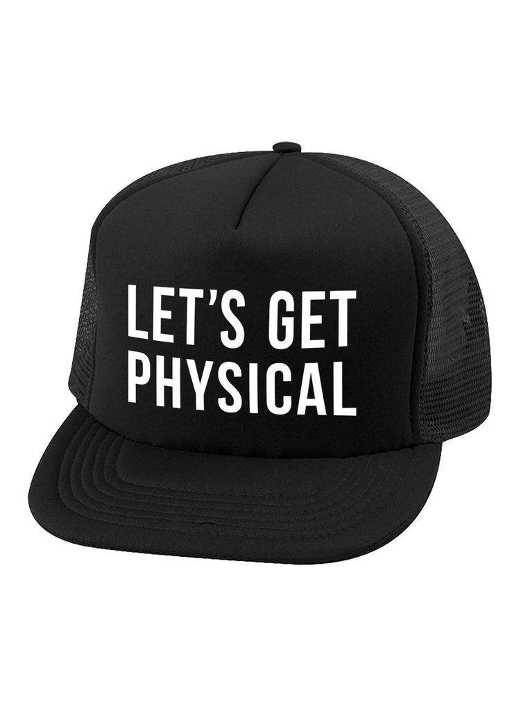 984175d4f8c73 Physical Trucker Hat in Black