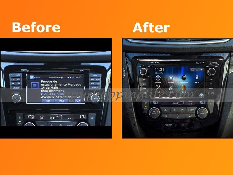 android car dvd player gps navigation for nissan qashqai 2014 2016 radio wifi 3g bluetooth tv. Black Bedroom Furniture Sets. Home Design Ideas