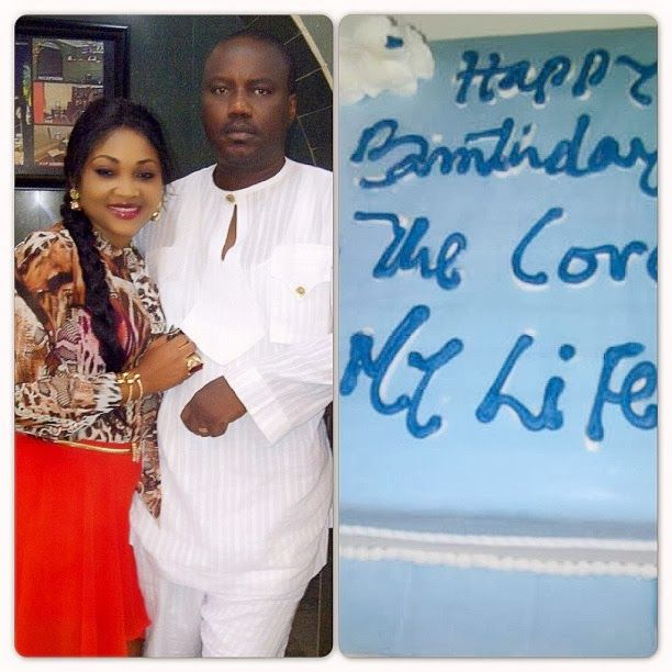 Nollywood actress, Mercy Aigbe-Gentry has sent a romantic message to her husband as he marks his birthday today.The Edo State-born beauty and mother of two took to instagram to celebrate her husband, expressing her love for him with this picture of them together and his birthday cake.She followed