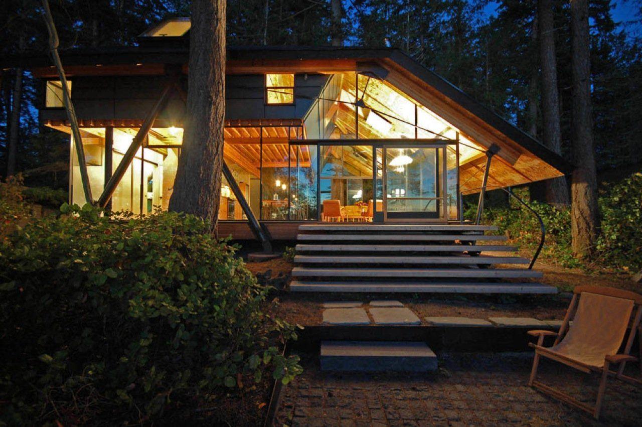 Sneeoosh cabin in puget sound washington usa by zeroplus architects