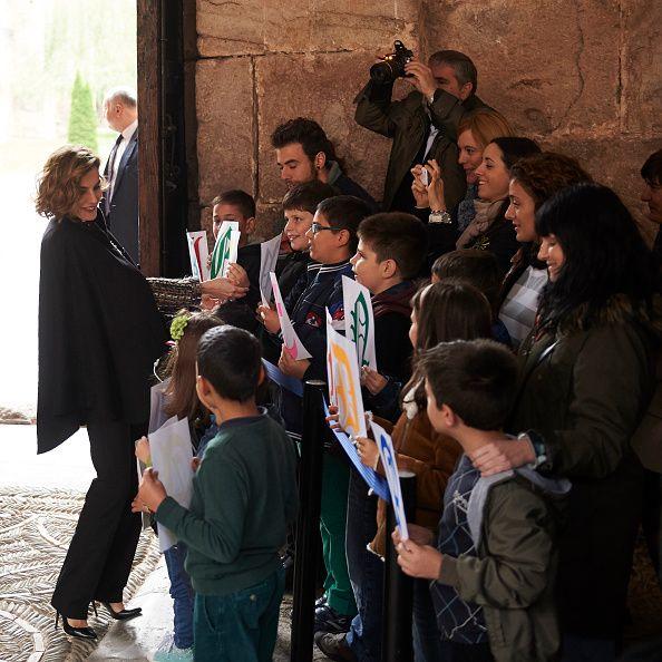 Queen Letizia of Spain attends the inauguration of the 10th International Seminar of Language and Journalism 'Manuales de Estilo en la Era de la Marca Personal' at the Monastery of Yuso on October 13, 2015 in San Millan de la Cogolla, Spain