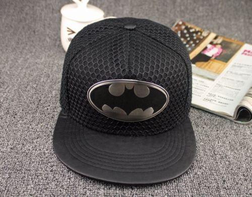 Details Zu Neu Batman Cap Metall Symbol Mutze Hip Hop Caps Snapback