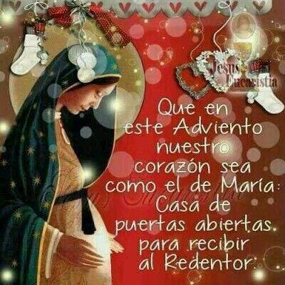 Virgen De La Dulce Espera Adviento Y Navidad Tarjeta De Navidad Mensajes Frases De Navidad