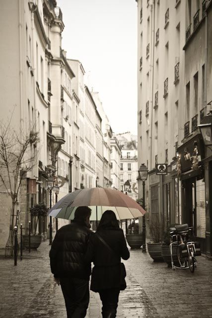 Paris in the rain Romance by rebeccaplotnick on Etsy