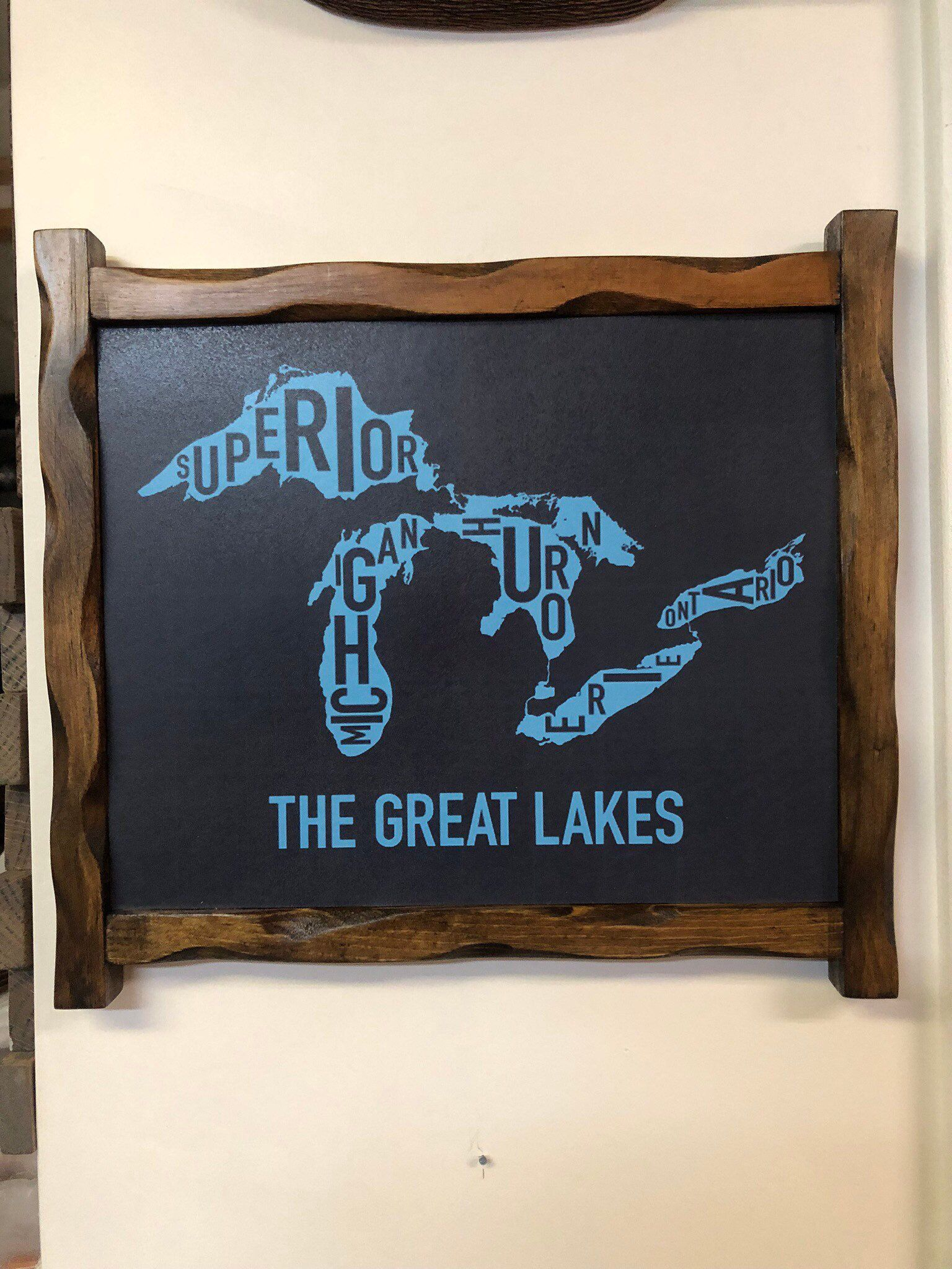 Rustic Hand Painted Wood Signs Lake Superior Sign