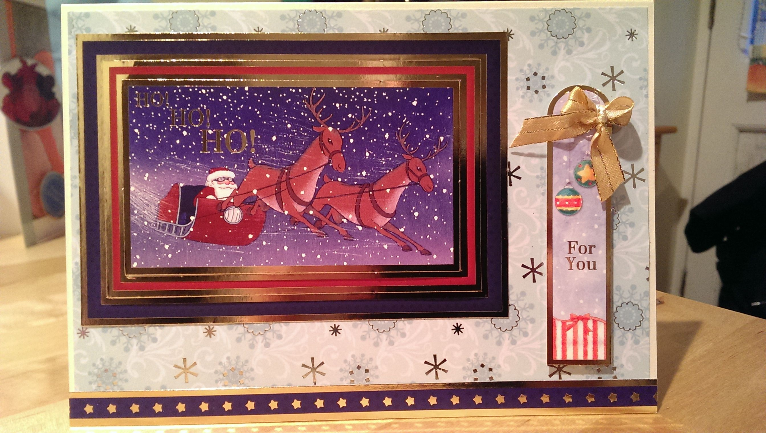 Christmas cards 2014 - Using Crafter's Companion: Father Christmas