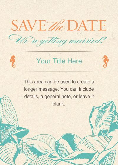 Tropical Destination Save the Date designed by RUCHI