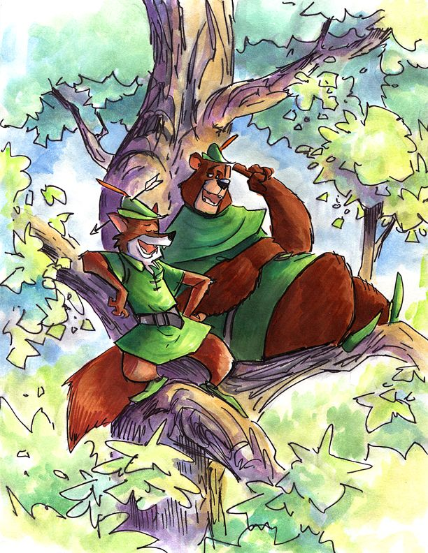 ae8d9d70a Disney RobinHood and LittleJohn by Boatwright on DeviantArt
