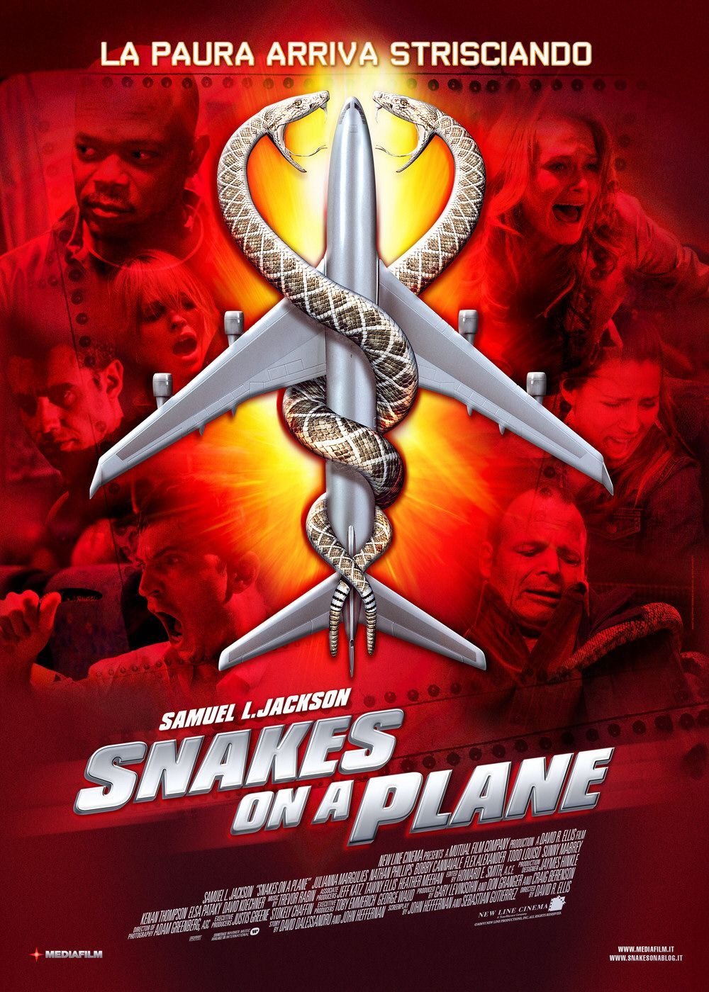 Snakes On A Plane , Starring Samuel L Jackson, Julianna Margulies -8980