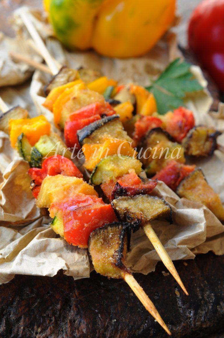 Ricetta Verdure Sfiziose.Arrosticini Di Verdure Panate Ricetta Sfiziosa Veloce Ricette Ricette Contorni Ricette Vegetariane