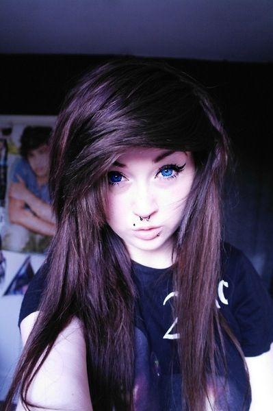 emo girl blond hair blue eyes