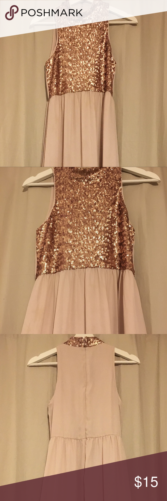 Long rose gold maxi dress gold sequin top long slip and tall people