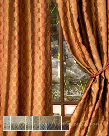 Rockafeller Sienna Curtains With Grommets And Lining