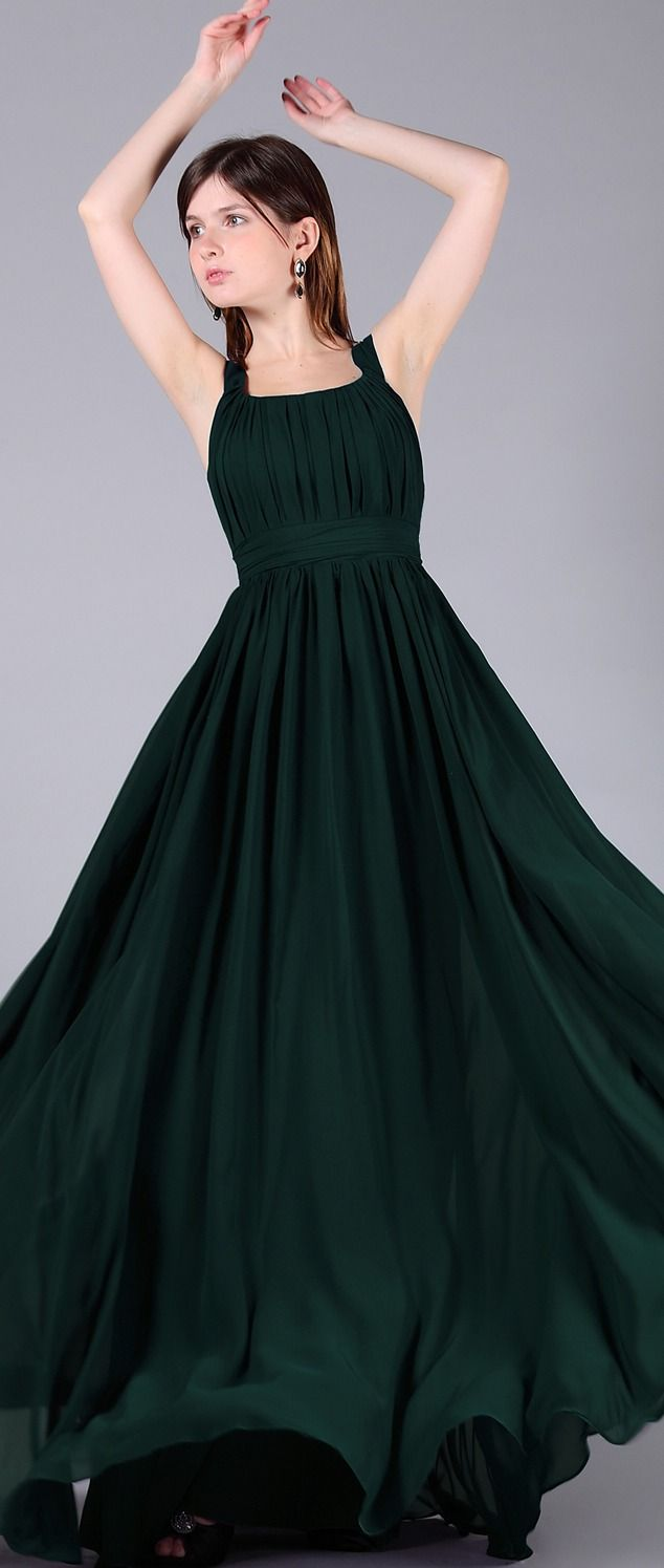 Dark green long junior prom dresses wide straps pinterest straps