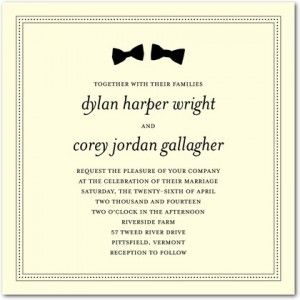 2013 Invitation Trends Gay Wedding Invitations SameSex