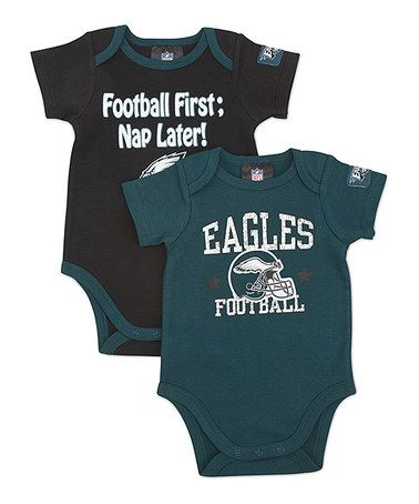 5db8eab4b Take a look at this Green   Black Philadelphia Eagles Bodysuit Set - Infant  by NFL on  zulily today!