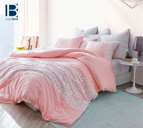 White Lace King Duvet Cover Oversized King Xl Rose Quartz Bed Linens Luxury Luxury Bedding Sets Cool Beds