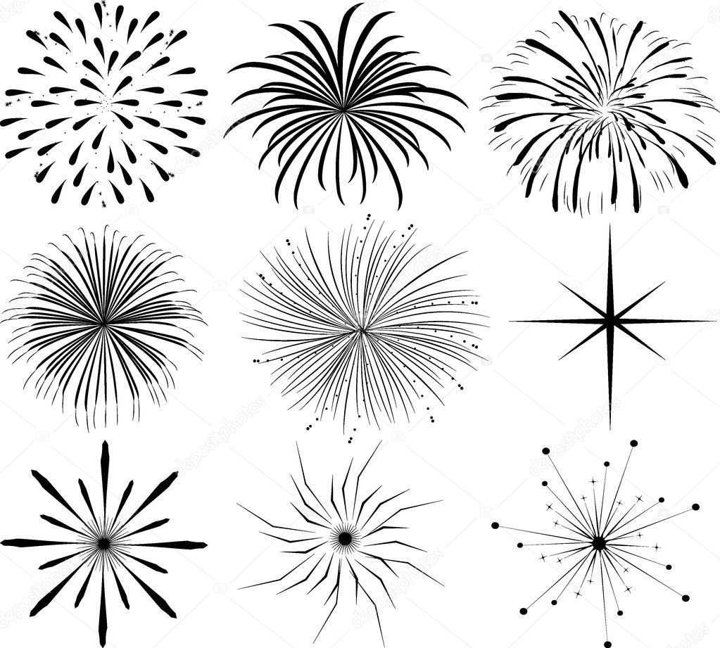 Vector fireworksabstract illustration of fireworks in the