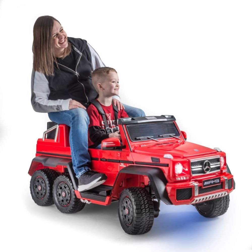 Mercedes G63 Electric Ride On Car 6x6 Jeep With Remote Control Red 6 Wheel Drive Mercedes Best Kids Toys Riding