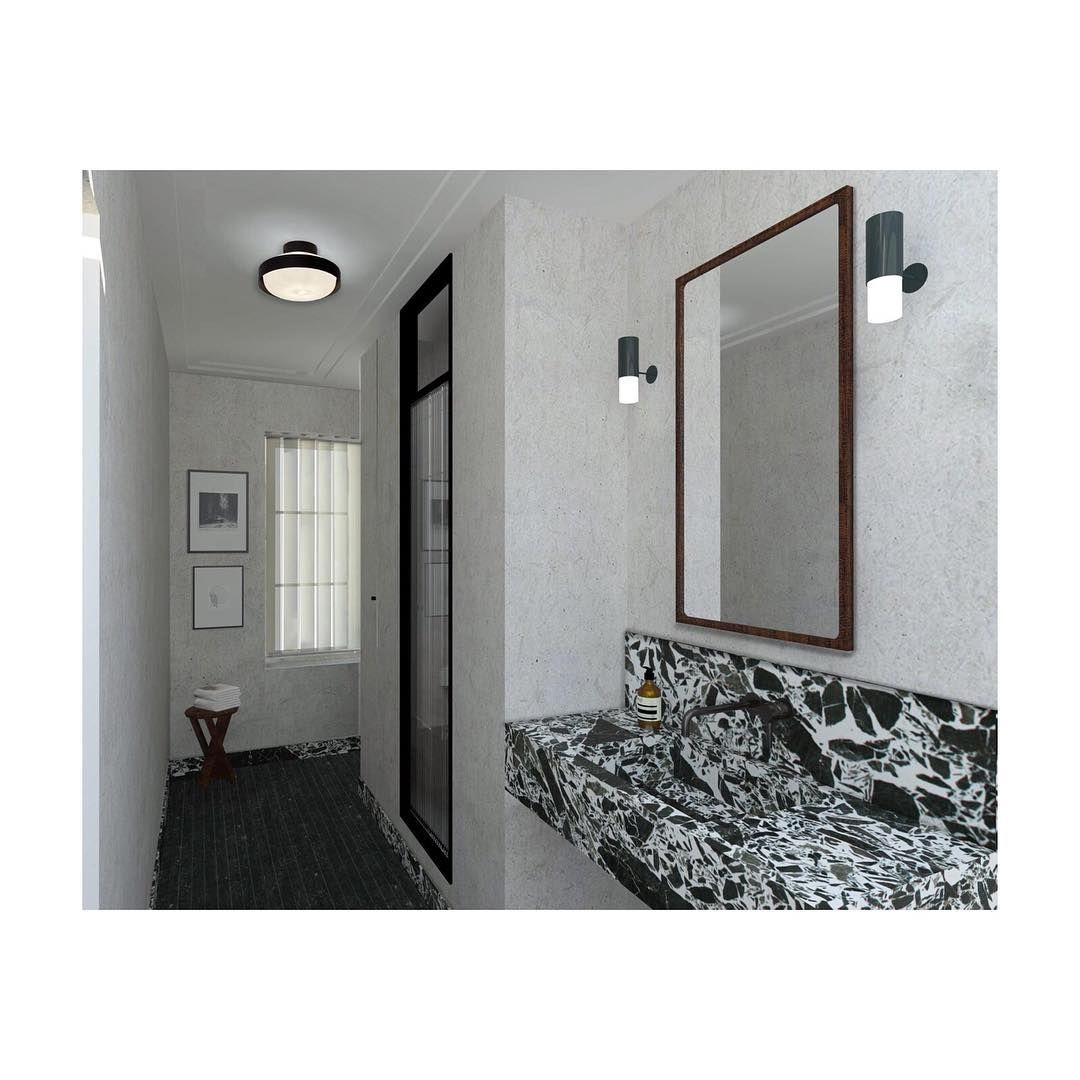 "Stéphanie Lizée on Instagram: ""Soon | bathroom | #interiorarchitecture #stephanielizee"""