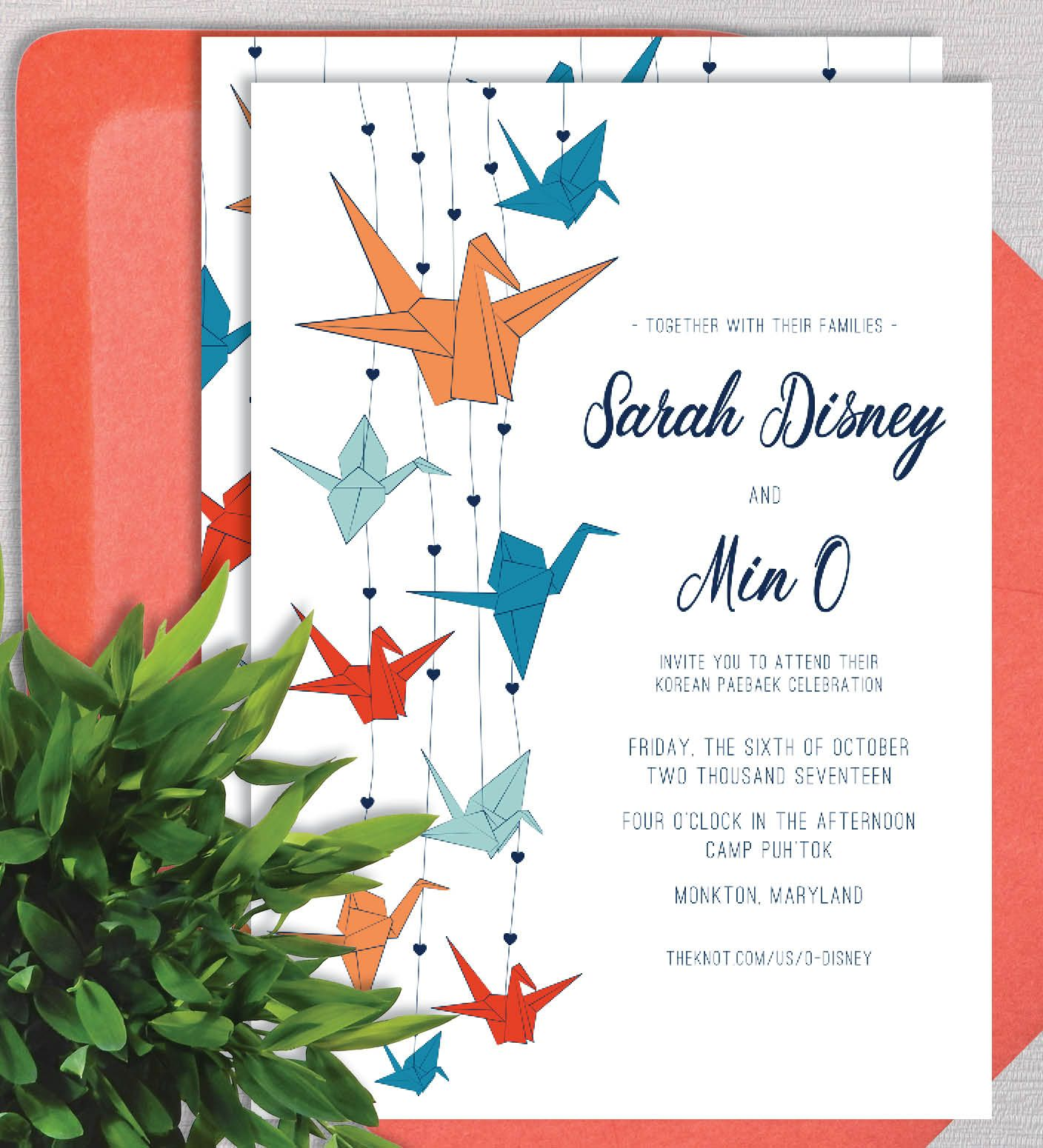 Cranes Of Love Wedding Invitation Suite By Ealexdesigns
